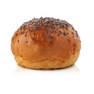 Pane per hamburger con semi di lino