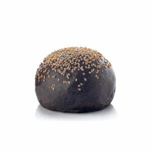 Piccolo panino nero con semi di sesamo