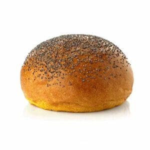 Panino grande con semi di papavero